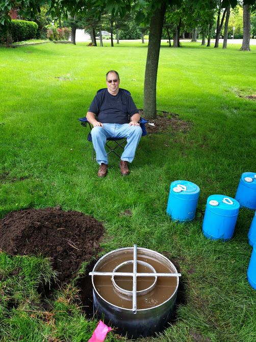 Double ring infiltrometer is used to determine the vertical drop of water in saturated soil